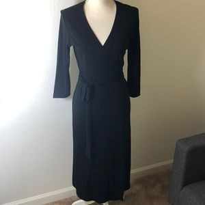 Ann Taylor Loft black wrap dress size small ✨